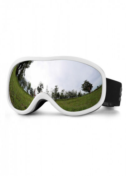 Маска для лыж и сноуборда Sposune HX043-2 Glossy White-Grey