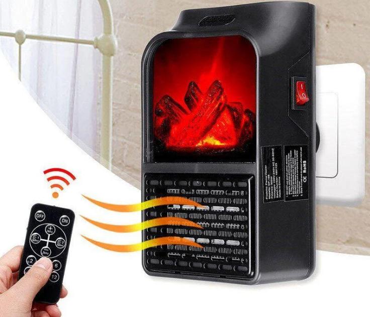 Портативний обігрівач керамічний Flame Heater з пультом 1000 Вт