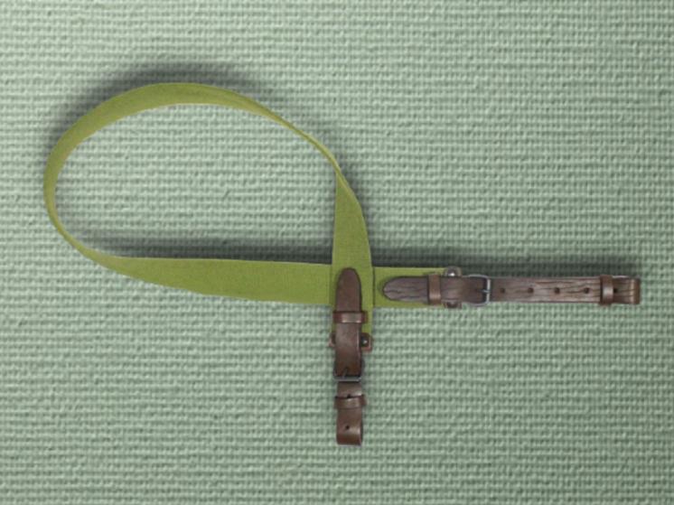 Ремень ружейный брезентовый с чёрными ремешками (лента ЛРТ) 110 см