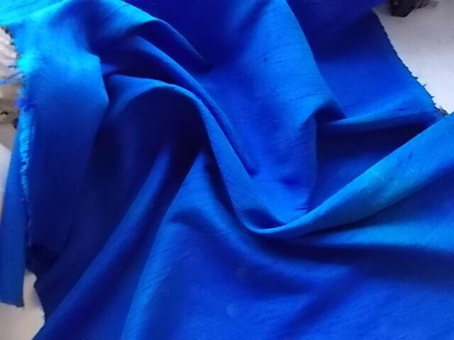 Ткань шелк тафта красивого василькового цвета  Для рукоделия