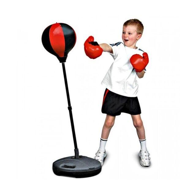 Детский спортивный боксерский набор с регулируемой стойкой Ms 0331