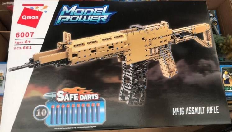 Конструктор Brick, Qman 6007 Оружие Штурмовая винтовка M416, 661 дет.