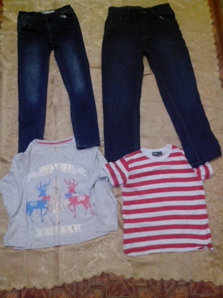 Джинсы, футболки на девочку 9, 10-11 лет на выбор