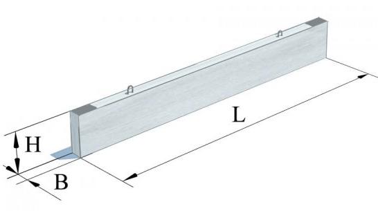 Прогони прямокутного перерізу та з односторонньою поличкою