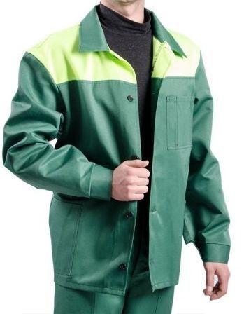 Костюм рабочий зеленый с лимонной кокеткой Гретта