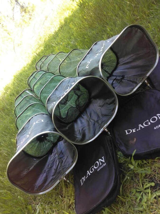 Садок для рыбалки рыбы Dr.Agon 2.5 м прорезиненный сумка в комплекте