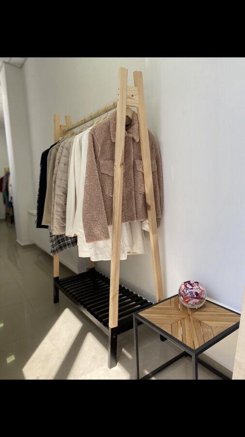 Вішалка Рейл Стойка напольная  Открытый гардероб