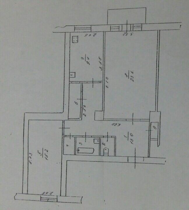 Продам 2 ком квартиру.72м. В Центре