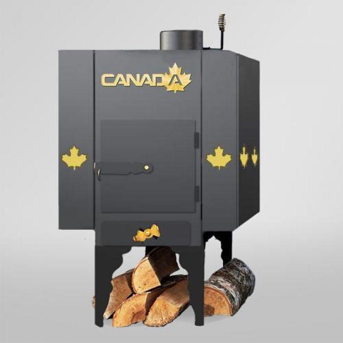 Печь дровяная Canada с теплоаккумулятором и защитным декоративным кожу