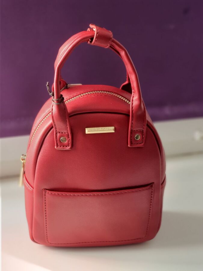 Модный, компактный рюкзак из экокожи