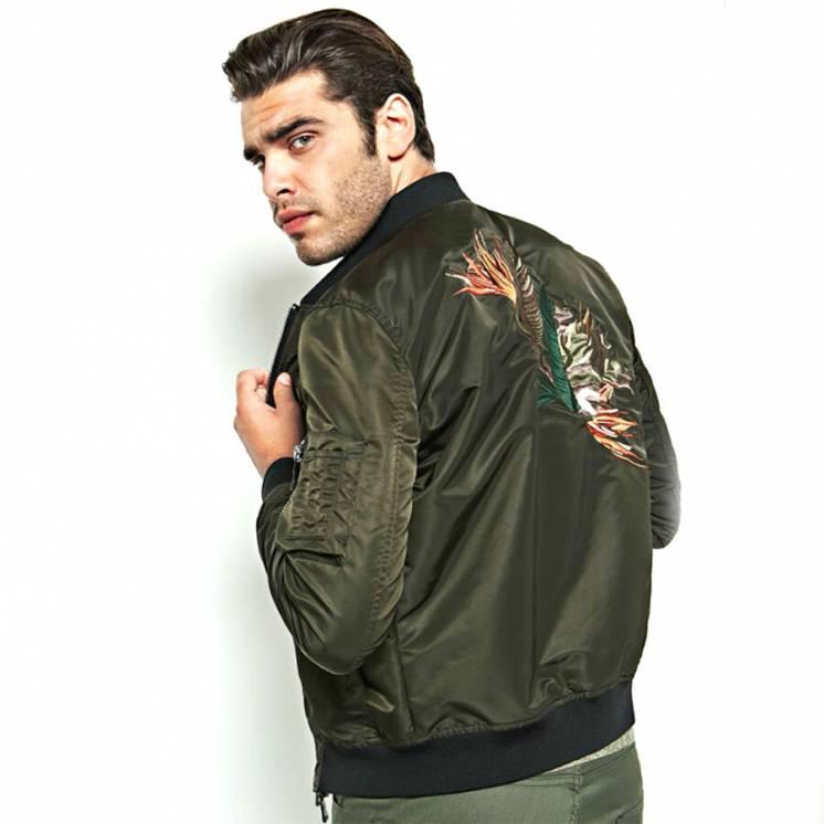 Бомбер Marciano Guess USA р L 48 мужская куртка пилот с вышивкой осень