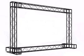 Прокат конструкции press wall, аренда мобильного стенда roll-up, ролап