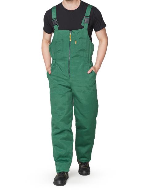 Полукомбинезон утепленный синий, зеленый рабочий
