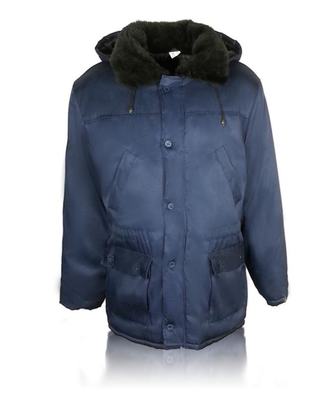 Рабочая утепленная куртка с меховым воротнимком и с капюшоном