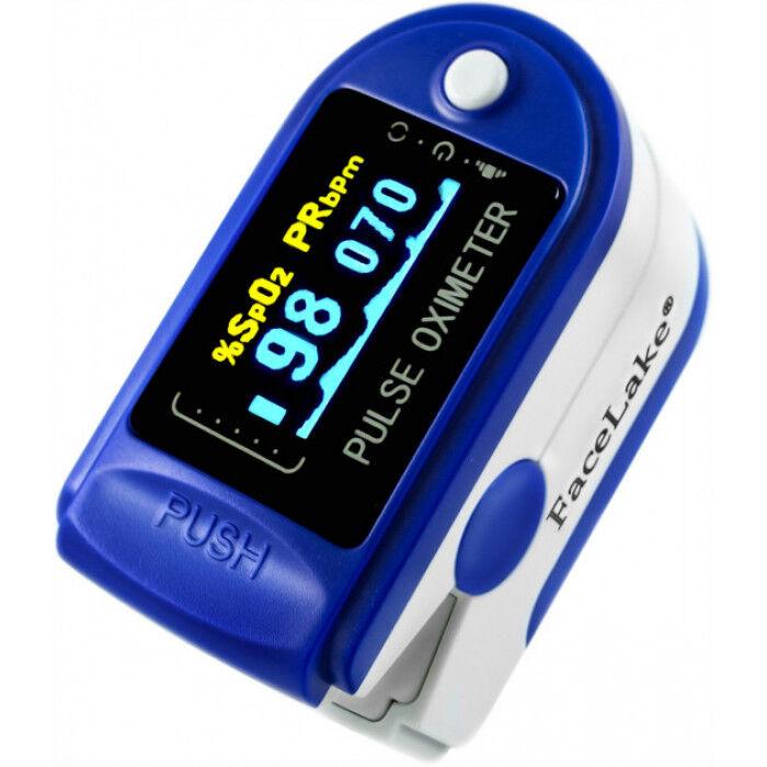 Пульсоксиметр Pulse Oximeter  CMS50D синие и белые