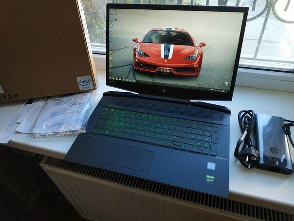 Ноутбук Hp i7-9750H RAM 16 ГБ GTX 1660 6 ГБ Pavilion Gaming 17-cd0013u
