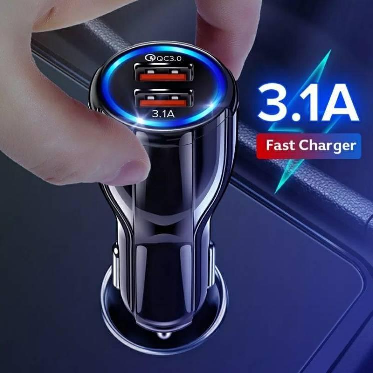 Быстрая зарядка адаптер USB в автомобиль прикуриватель QC 3.0 телефона