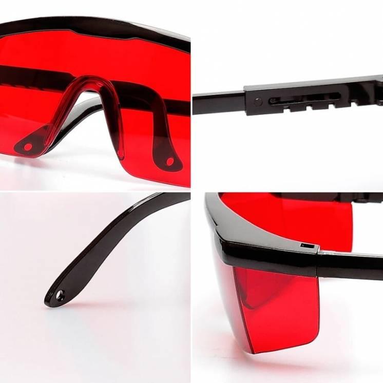 Защитные Красные Очки HUEPAR Лучшая Видимость Луча + Кейс