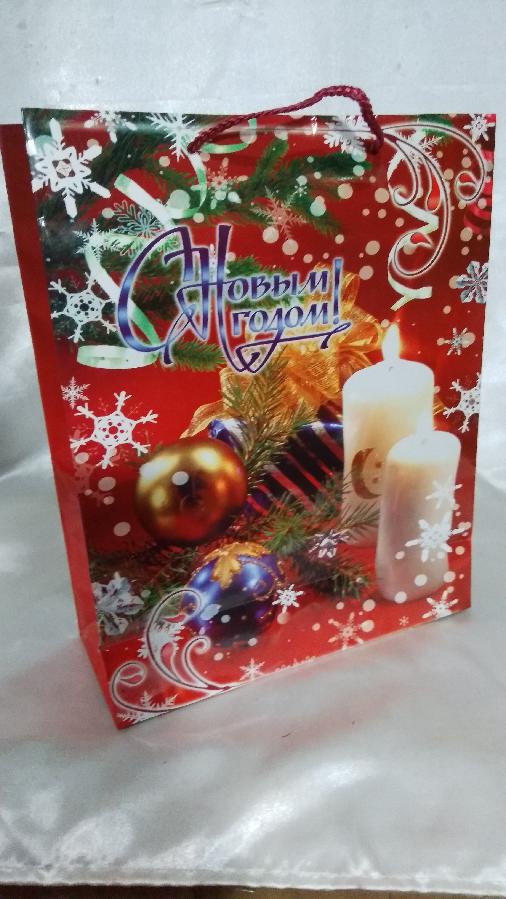 Пакет подарочный Новогодний 26х32 см.