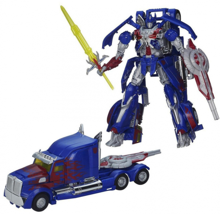 Трансформер Оптимус Прайм 25 см - Optimus Prime, TF4, Leader, Hasbro