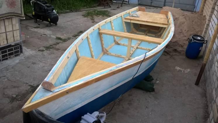 Лодка плоскодонная (плоскодонка) 4м