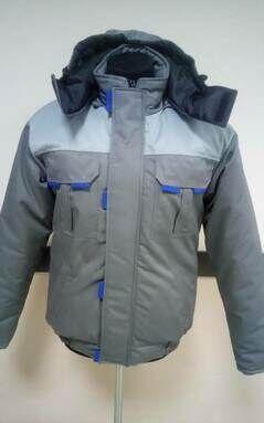 Серая рабочая куртка утепленная спецодежда