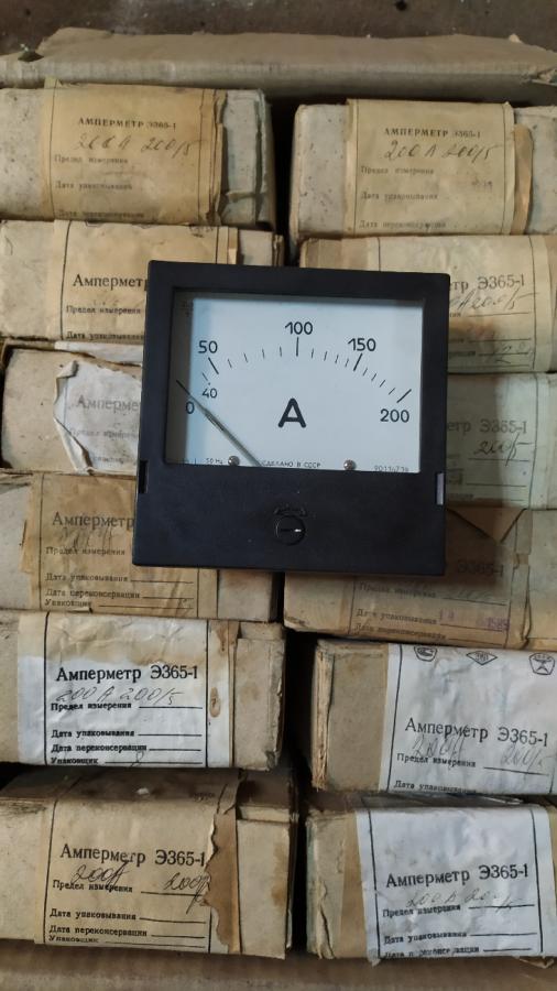 Амперметр Э365-1 для измерения величины тока