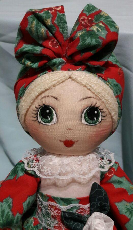 Кукла-грелка на заварочный чайник ручной работы в красном сарафане
