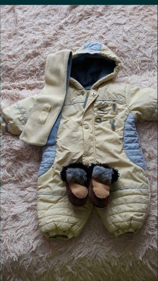 Непродуваемый зимний детский комбинезон на флисе+подарок