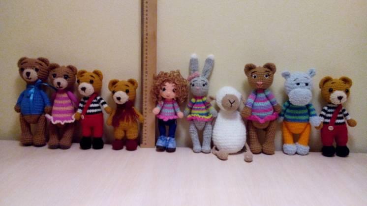 Мягкие игрушки высота от17-30см по 130грн.