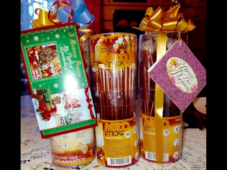 Подарочные наборы, подарки, Медовые палочки, Клубничные палочки джем.