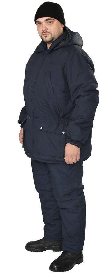 Удлиненная зимняя рабочая куртка мужская