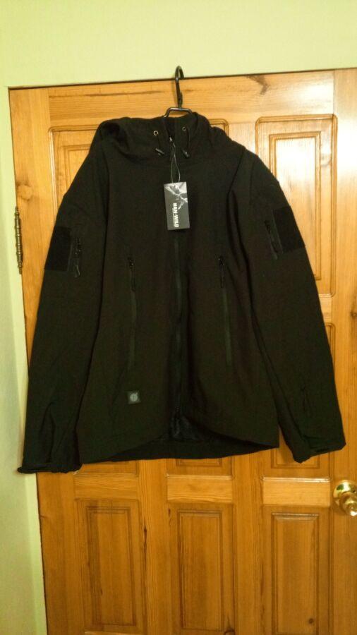 Куртка Soft Shell черная (тактическая)