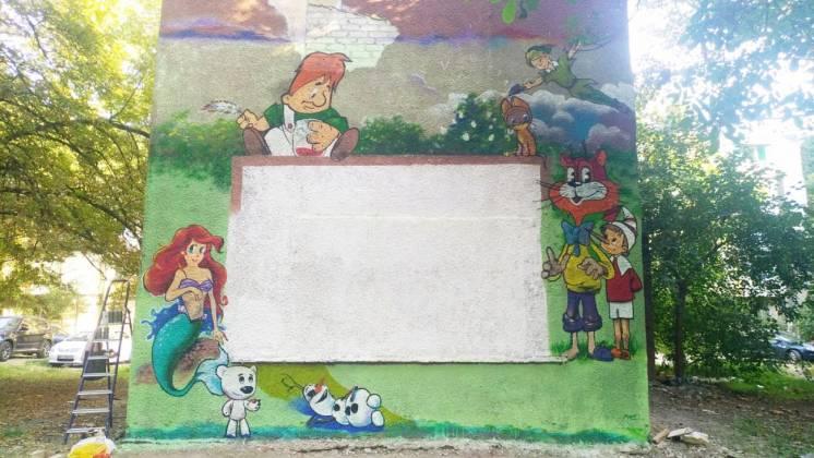 Граффити оформление, профессиональная роспись стен