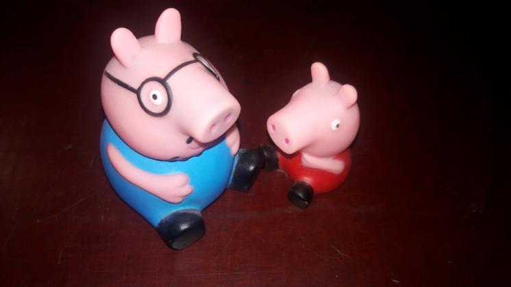 Пеппа свин свинка свинья поросёнок игрушка детям Peppa pig папа и дочь