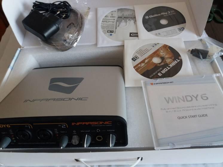 Звуковая карта INFRASONIC WINDY6+Traktor 3+Guitar Rig 3+Samplitude SE