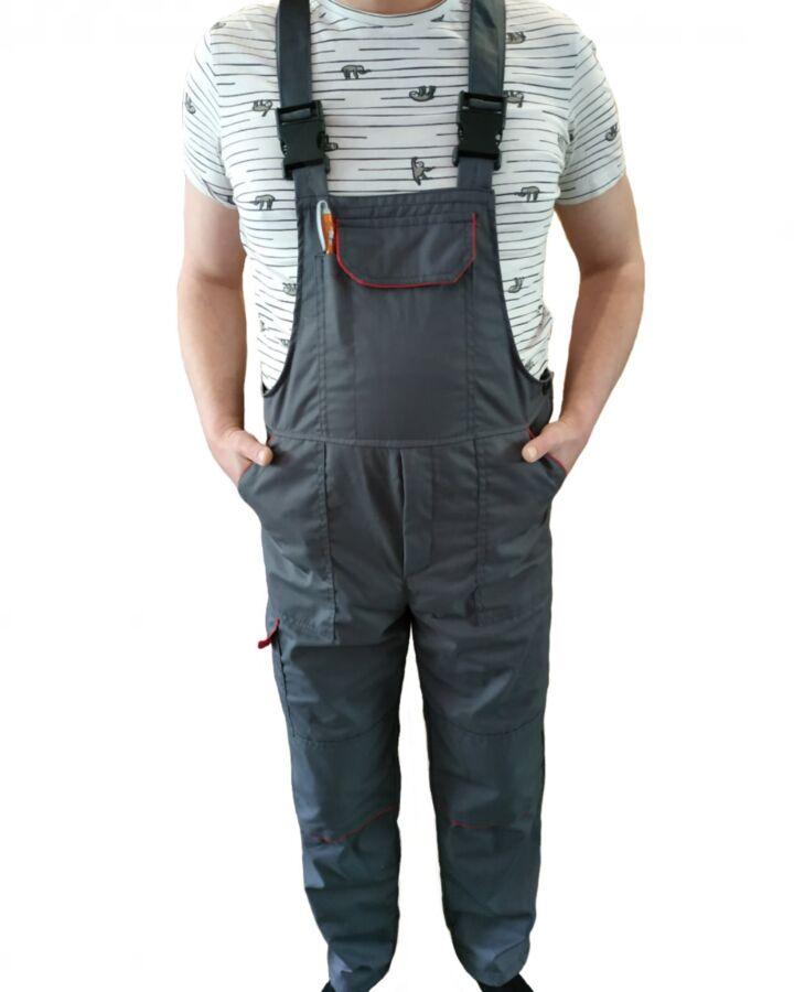 Полукомбинезон рабочий, комбинезоны с карманами для вкладышей