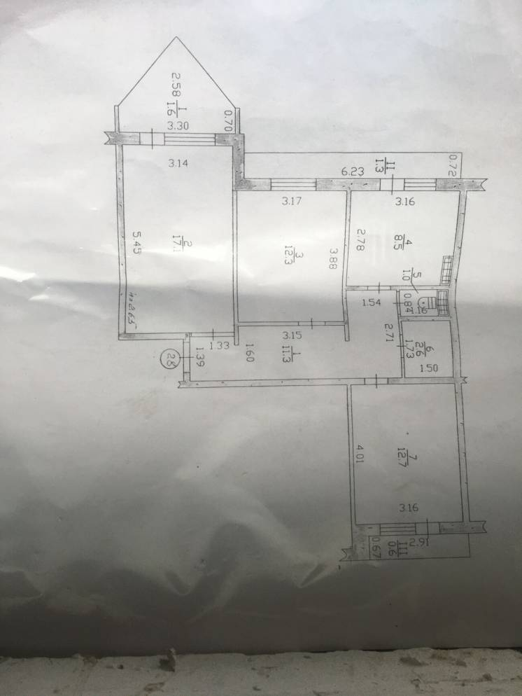 3-комн.кВ. Таврический 67 квадратов, 3 балкона