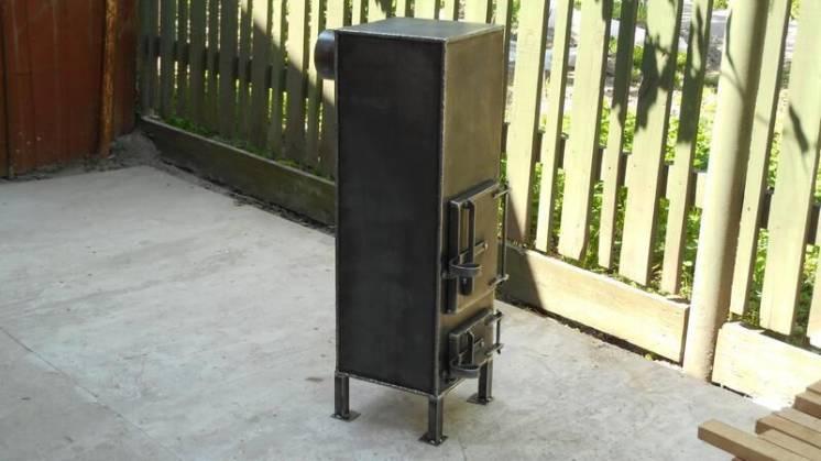 Печь до 25 м2, металл 3-4 мм, герметичная дверь / ручная работа