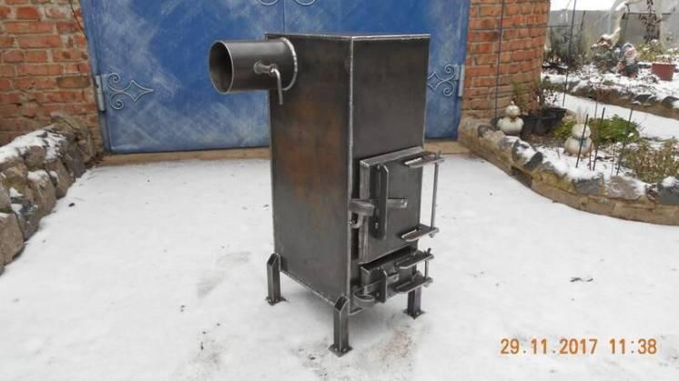 Универсальная добротная печь из стали 4 мм / ручная работа
