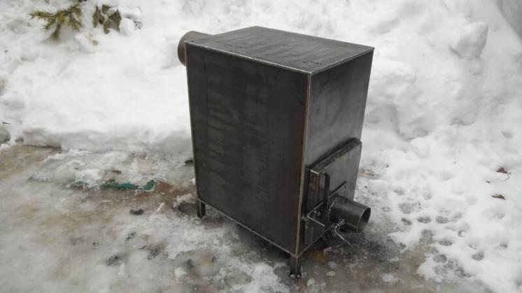 Печь отопительная дровяная, длительного горения / ручная работа