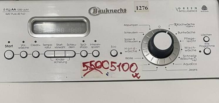 Немецкая вертикальная стиральная машина Bauknecht WAT PURE 42 FLD Киев