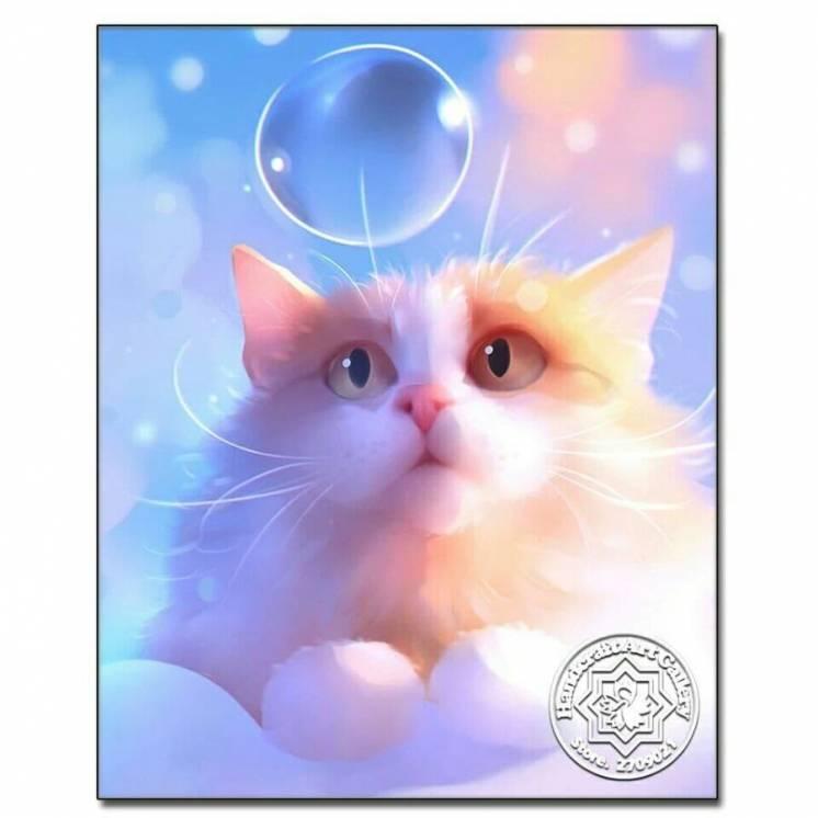Набор для алмазной живописи, алмазная вышивка 20*20 см котик