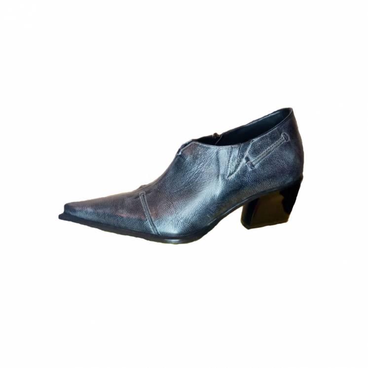 Жіночі туфлі козаки Escada, синій мрамор, розмір 37