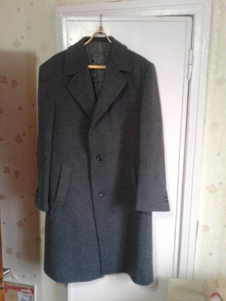 Пальто мужское. СССР. Натуральная шерсть.