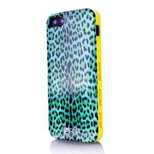 Силиконовый чехол Justcavalli Micro Leopard Леопард Синий для IPhone 5