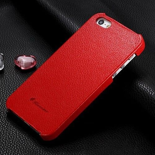 Накладка из эко-кожи Floveme Красная для iPhone 5&5s&5se