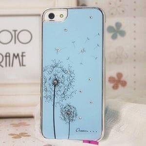 Чехол пластиковый с рисунком Одуванчика Голубой для IPhone 5