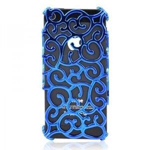Чехол накладка Королевский цветок Голубой для IPhone 5
