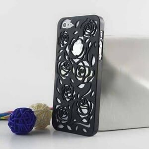 Чехол накладка розы Черный для IPhone 5